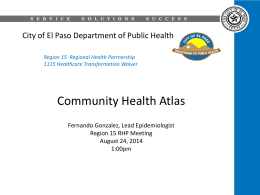 140924 Community Health Atlas Presentation to RHP
