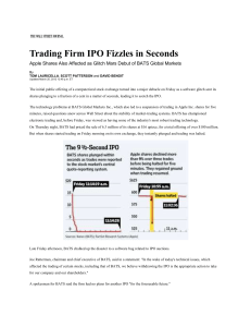 Trading Firm's IPO Fizzles in Seconds