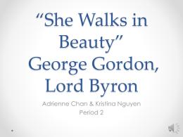 george gordon lord byron