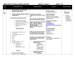 World Language Curriculum MapSpanish - World language curriculum