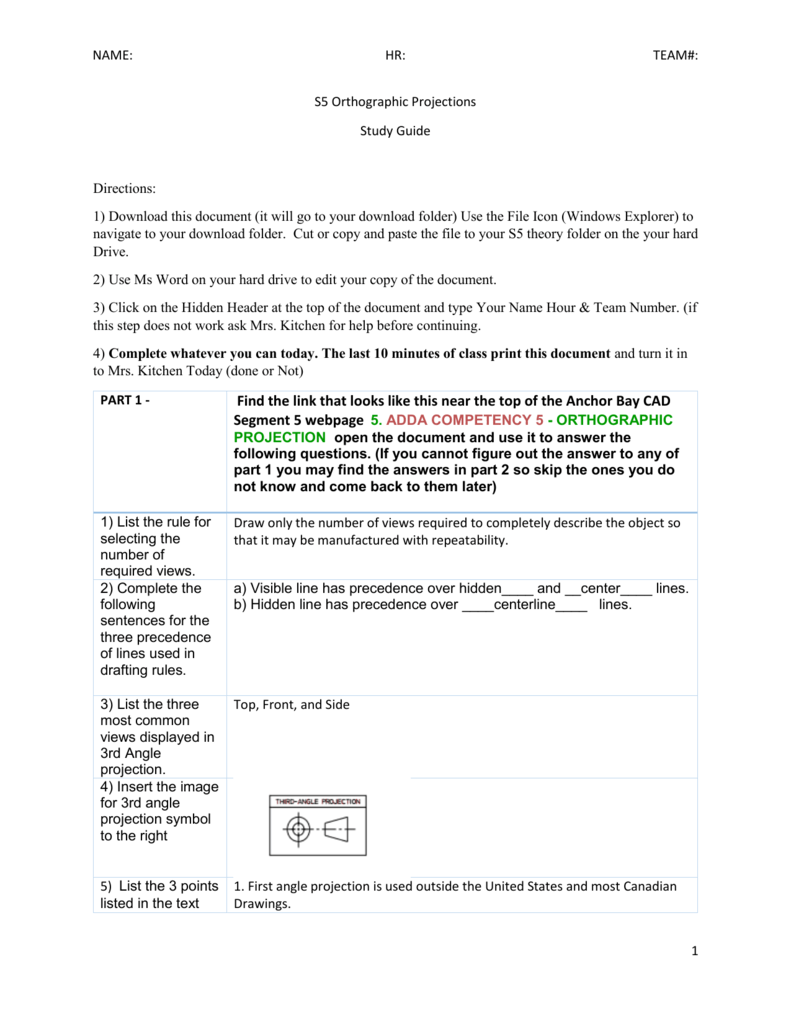 S5 orthographic projections study guide biocorpaavc Gallery