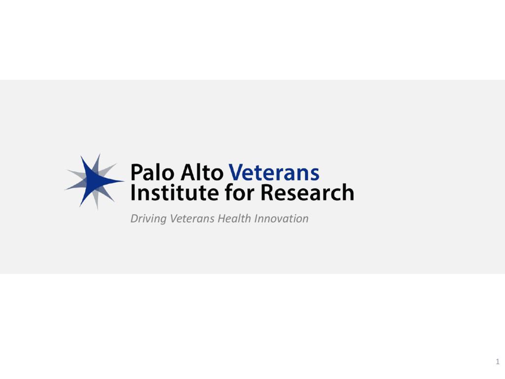 PI Eligibility - PAVIR - Palo Alto Veterans Institute for