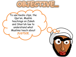 Lesson 4 – Islam and justice
