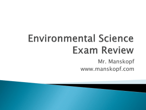 Environmental Science Exam Review