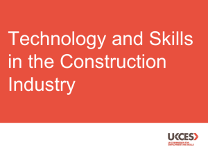 Technology and skills in the construction industry slide pack