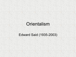Different Perspectives on Orientalism