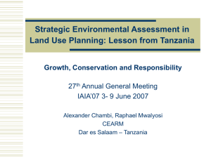 Strategic Environmental Assessment in Land Use Planning for