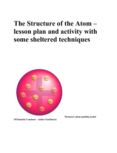 Structure of the Atom (using some sheltered instruction techniques)