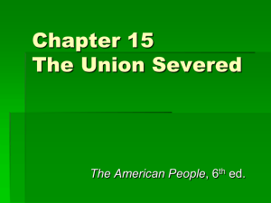 Chapter 15 The Union Severed
