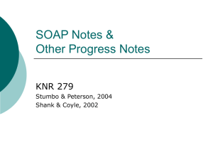 SOAP Notes & Other Progress Notes