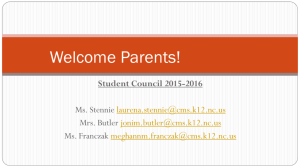 Student Countil Parent Meeting