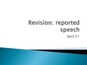 Revision: reported speech