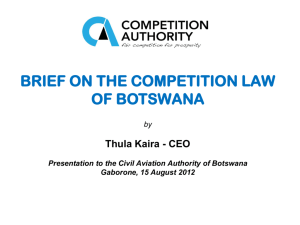 Brief on the Competition Law of Botswana