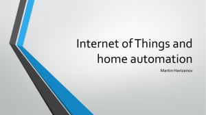 Internet of Things and home automation