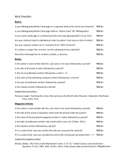 mla worksheet 1