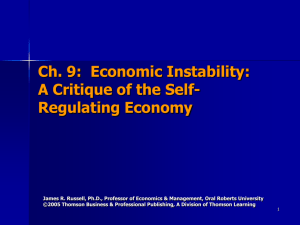 Ch. 9: Economic Instability: A Critique of the Self