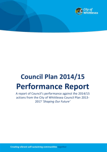 Annual Report 2014/15 - Part 4: Council Plan