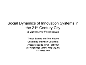 Social Dynamics of Innovation Systems in the 21st Century