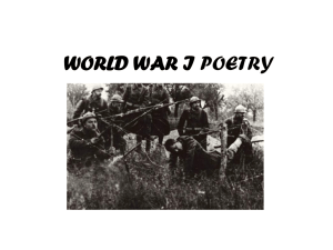 world war i poetry