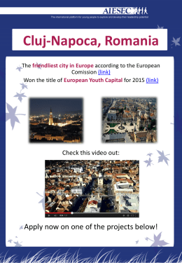 Projects Booklet – Cluj-Napoca, Romania
