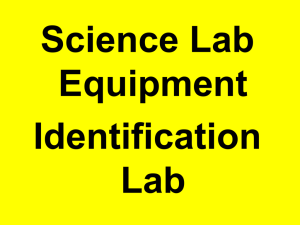 Equipment Identification PowerPoint
