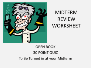 MIDTERM REVIEW WORKSHEET