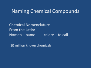 Naming Chemical Compounds PPT