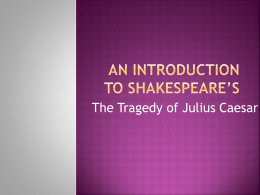 An Introduction to Shakespeare's