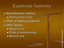 Eyewitness testimony slides