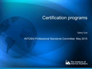 The IIA - INTOSAI's Professional Standards Committee (PSC)