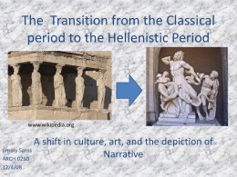 The Transition from the Classical period to the