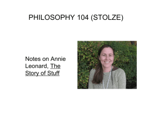 Notes on Annie Leonard, The Story of Stuff
