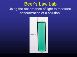 Beer's Law Lab