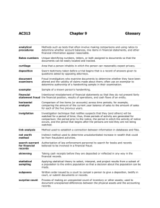 AC313 Chapter 9 Glossary