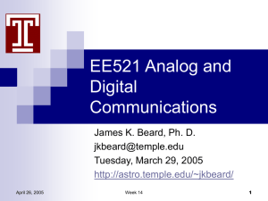 April 26 - James K Beard's EE521 and EE551 Pages