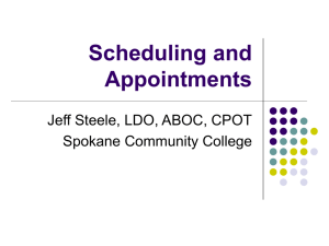 Scheduling and Appointments