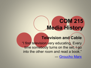 COM 215 Media History Television and Cable