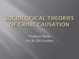 theories of crime causation