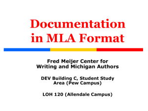 on MLA Documentation Style - Grand Valley State University