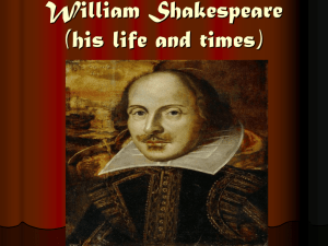 William Shakespeare - Highland Park Senior High School