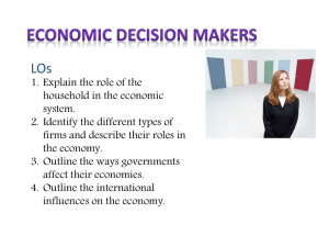 Economic decision makers