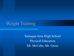 Weight Training - Tamaqua Area School District