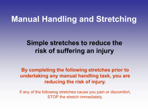 Manual Handling & Stretching