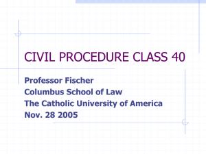 Civil Procedure Cheat Sheet