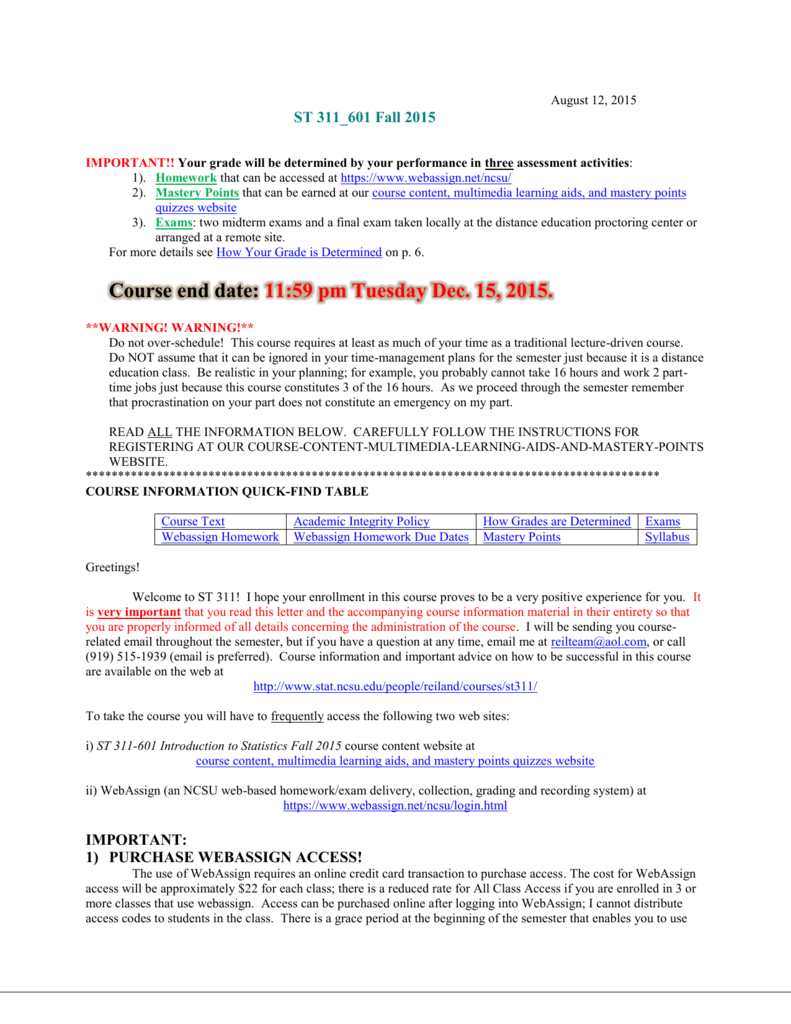 ST 311_Spring08_info - Department of Statistics