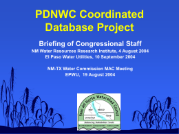 Exhibit D - New Mexico - Texas Water Commission