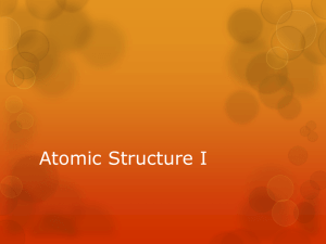 Atomic Structure I - Gallatin County Schools