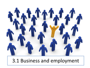 3.1 Business and employment - OSC-ITGS