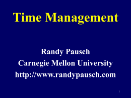 Time Management - University of Virginia