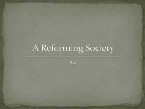 A Reforming Society